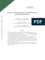 Supersymmetric Yang-Mills Theory
