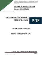 """09) Bejarani, J.L. (s.f) """"Apuntes de Costos II"""" UMSNH (2014)"""