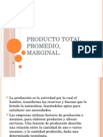 Producto Total ,Promedio, Marginal