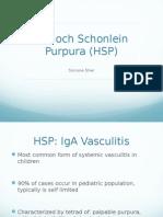 Henoch Scholein Purpura