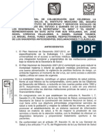 Convenio General Colaboracion Secretaria Salud Instituto Mexicano Seguro Social Issste