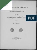 De Romeinsche denarius van 269-268 vóór Chr. en het gelijktijdige bronzen geld / [H.J. Scharp]