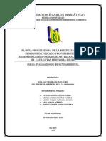 PLANTA PROCESADORA DE LA REUTILIZACIÓN DE RESIDUOS DE PESCADO PROVENIENTES DEL DESEMBARCADERO PESQUERO ARTESANAL ILO