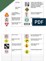 Traffic Signs Quebec