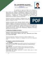 Nov 2015 CV José Luis Morón PUCPK- Resumen 2015
