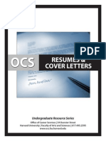 Undergrad Resumes and Cover Letters