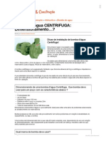 1 - BOMBA d'Água CENTRIFUGA_ Dimensionamento..