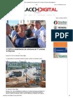 12-02-2015 Al 100% La Rehabilitación de Colectores de 17 Colonias en Reynosa