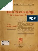 Historia Politica de Los Papas Desde La Revolucion Francesa a Nuestros Dias