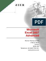Excel 2007 Advanced