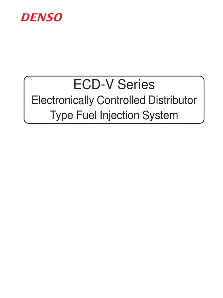 ECD V3 V5 Ve Pump Denso Repair Manual | Internal Combustion Engine | Diesel  Engine