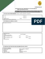 FORMULARIO 001- Intervención Policial Preventivao o Accion Directa