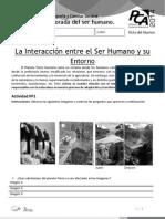 AE 2 La Interacción Entre El Ser Humano y Su Entorno