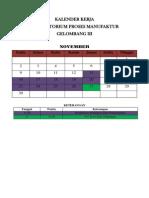 Kalender Kerja Gel III 2015