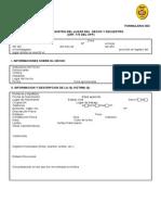 FORMULARIO 003 - Registro Lugar Del Hecho y Secuestro