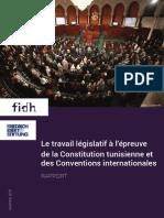 Le travail législatif à l'épreuve de la Constitution tunisienne et des Conventions internationales