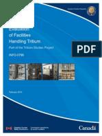 Evaluation of Facilities Handling Tritium Info-0796 e