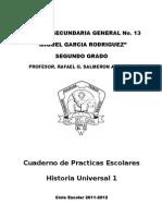 Cuaderno de Practicas Escolares Historia 1 Bloque 11