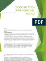 Código de Ética Profesional Del Musico