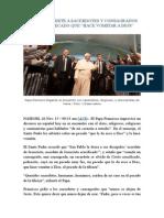El Papa Advierte a Sacerdotes y Consagrados Sobre El Pecado Que