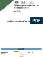 Analisis estructural de sistemas mecánicos