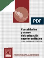 ANUIES Consolidacion y Avance de La Educacion Superior