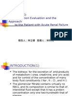 Renal Function Evaluation and the Approach to the Patient With Acute Renal Failure