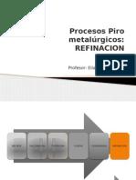 Clase 12 Procesos Pirometalurgicos- Refinación y Moldeo
