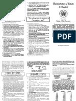 Administration of Estates Pamphlet