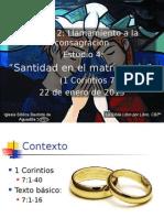 4 Santidad en El Matrimonio