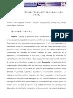 Caracteristicas Maternales y Temperamento Del Nino en La Anorexia Infantil