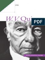Alex Orenstein - W. v. O. Quine (Philosophy Now)