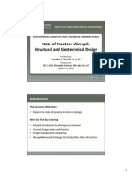state of Practice- Micropile Structural& Geotechnical Design