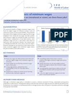 Employment Effects of Minimum Wages