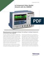 VM6000 Spatial Distortion SD HD Measurments