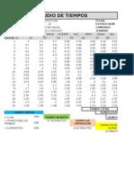 Excel Formato Estudio de Tiempos