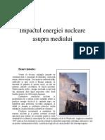 Impactul Energiei Nucleare Asupra Mediului