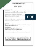 Test de Zavic Cuadernillo