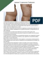 Diferencias Entre Lipolaser Y Liposuccion Tradicional.