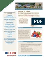 Hunt Newsletter - December 2015