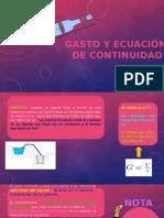 GASTO Y ECUACIÓN DE CONTINUIDAD.pptx
