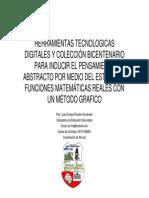 HERRAMIENTAS TECNOLÓGICAS DIGITALES Y COLECCIÓN BICENTENARIO PARA LA INDUCCIÓN DEL PENSAMIENTO ABSTRACTO POR MEDIO DEL ESTUDIO DE FUNCIONES MATEMÁTICAS REALES CON UN MÉTODO GRAFICO EN LOS ESTUDIANTES DEL 4TO AÑO