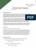 math1010 - an optimizing an advertising campaign