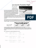 math1010 - height of a zero gravity parabolic flight