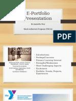 e-portfolio presentation