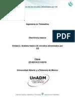 Unidad 2 Analisis Basico de Circuitos Alimentados Por CD