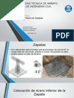 Hierros en Zapatas