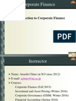 Corporate Finance Chapter