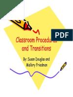 classroom transitions susan douglas