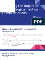 examining the impact of student engagement on alumni relations - no notes